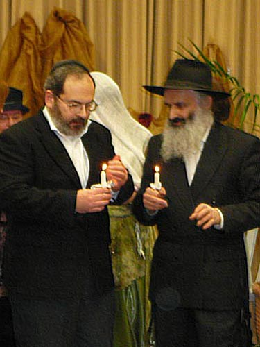 Подготовка к введению жениха под хупу. Шошвиним - Иосиф и Илиягу.