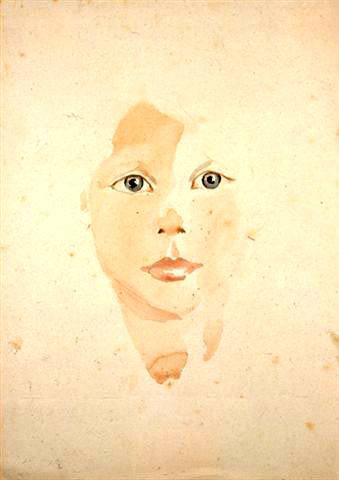 Ф.Дикер-Брандейс. Лицо ребенка. Терезин, 1944
